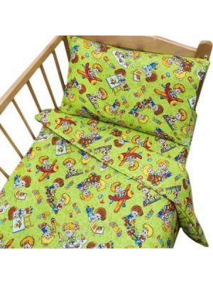 Постельное белье в детскую кроватку Непоседы, бязь  Постельное бельё