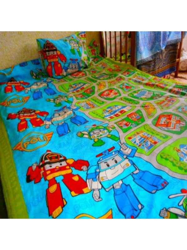 Детское постельное белье Поли робокар